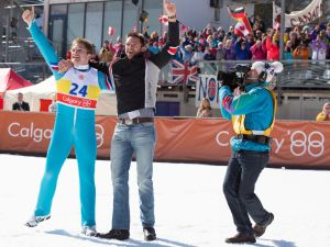eddie-the-eagle-taron-egerton-hugh-jackman-set-photo