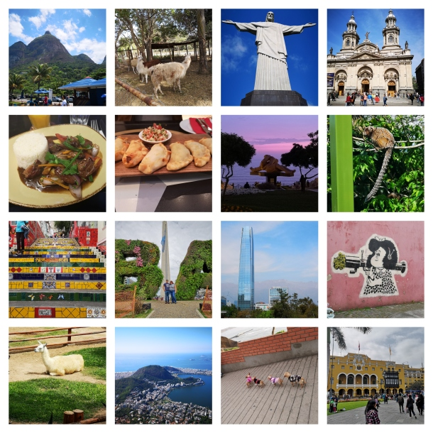 South america-collage